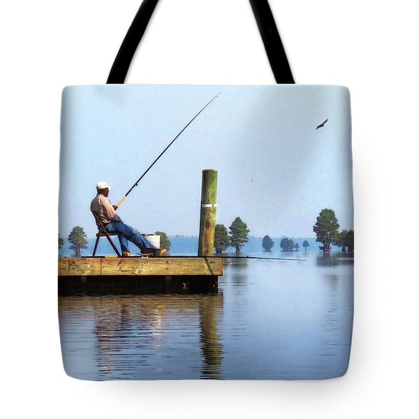 Sunday Fisherman Tote Bag by Deborah Smith