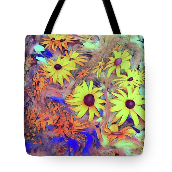 Sunday Flower Tote Bag