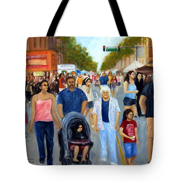 Sunday Fun In Red Bank Tote Bag