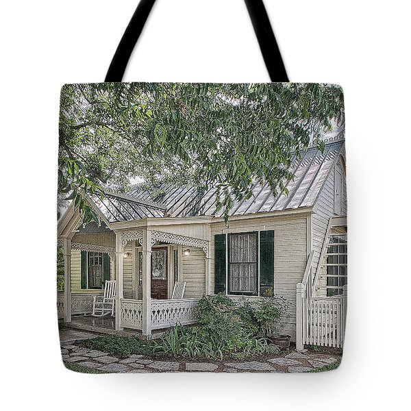 Sunday House Cottage Tote Bag
