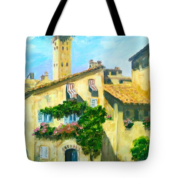 Sunday In Siena Tote Bag