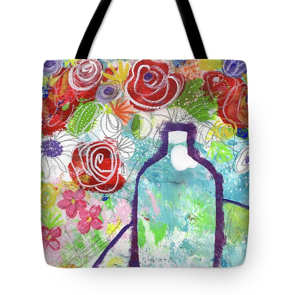 Sunday Market Flowers 2- Art By Linda Woods Tote Bag