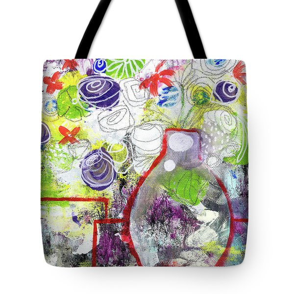 Sunday Market Flowers 3- Art By Linda Woods Tote Bag