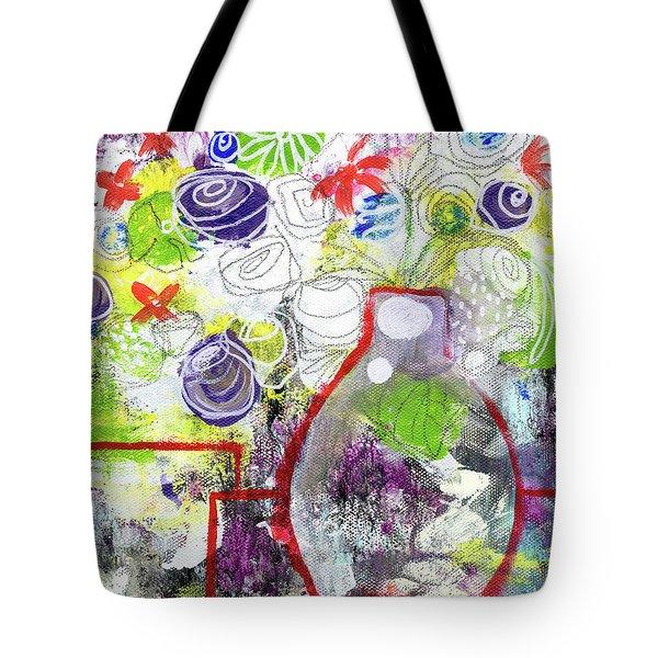 Sunday Market Flowers 3- Art By Linda Woods Tote Bag by Linda Woods