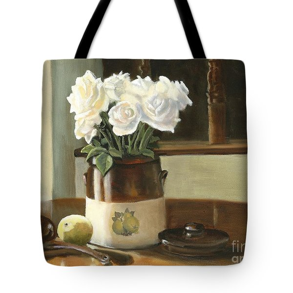 Sunday Morning And Roses - Study Tote Bag by Marlene Book
