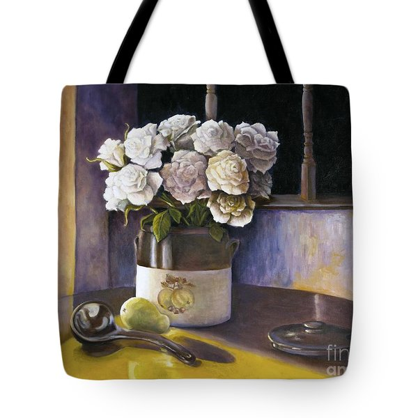 Sunday Morning And Roses Redux Tote Bag by Marlene Book