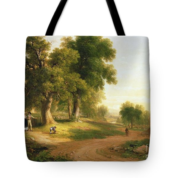 Sunday Morning Tote Bag by Asher Brown Durand