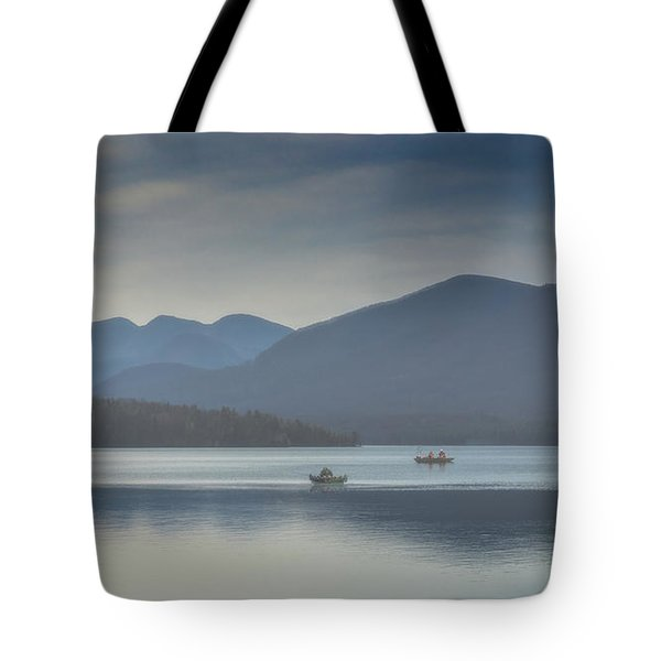 Sunday Morning Fishing Tote Bag by Chris Lord