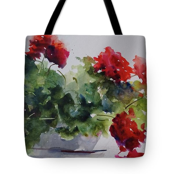 Sunday Morning Geraniums Tote Bag