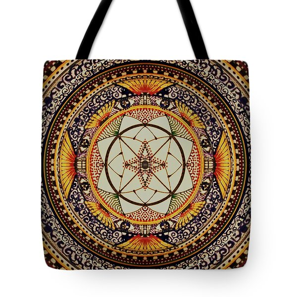 Tote Bag featuring the painting Sunday Morning by Kym Nicolas