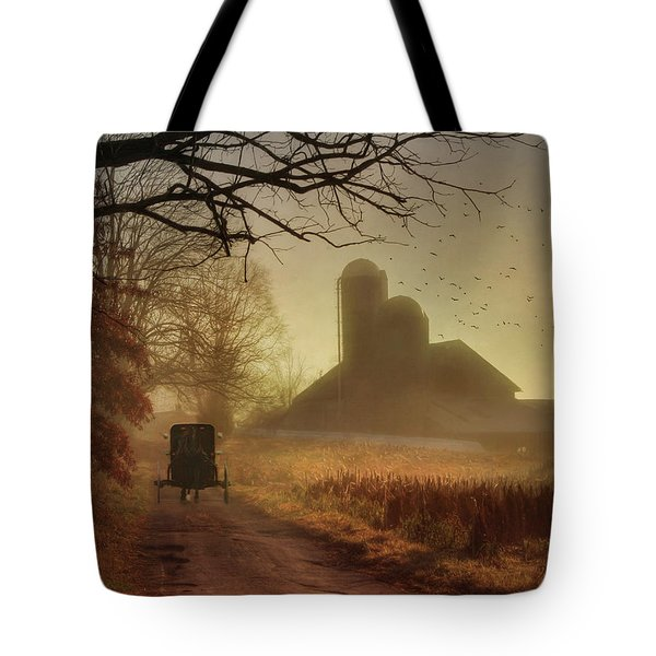Sunday Morning Tote Bag by Lori Deiter