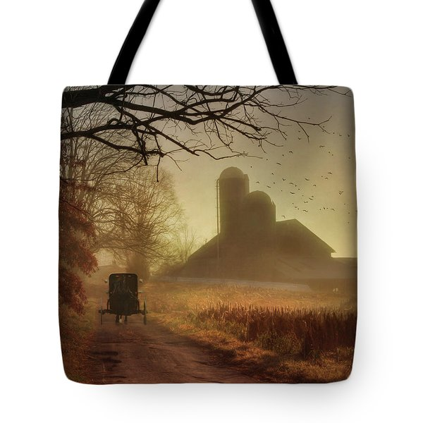 Sunday Morning Tote Bag by Lori Deiter