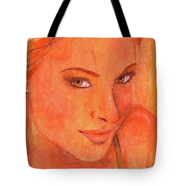 Tote Bag featuring the painting Sunday by P J Lewis
