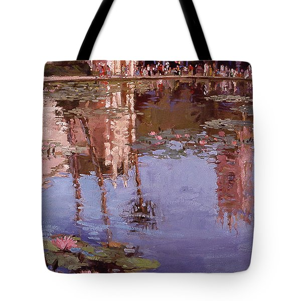 Sunday Reflections - Water Lilies Tote Bag