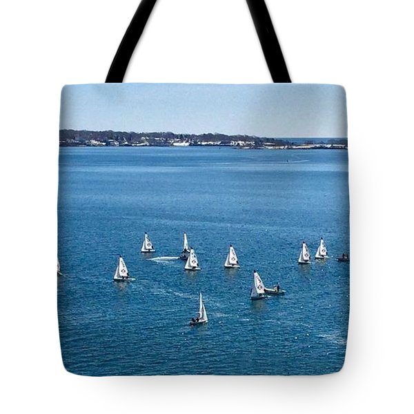 Sunday Sailing School On Casco Bay Tote Bag