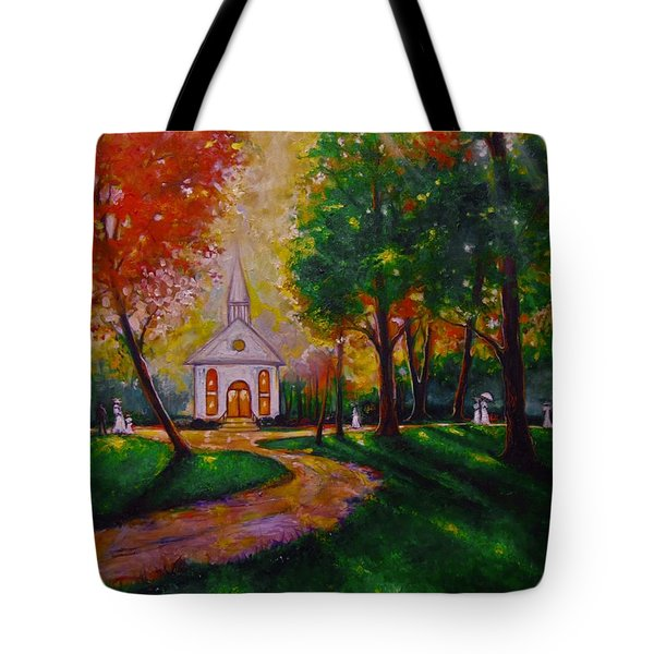 Sunday School Tote Bag by Emery Franklin