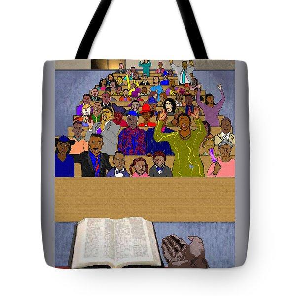 Sunday Sermon Tote Bag by Pharris Art