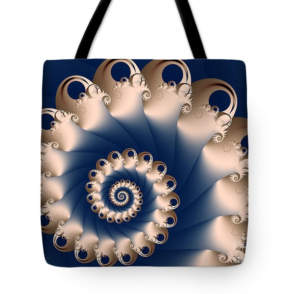 Tote Bag featuring the digital art Sunday Spiral by Karin Kuhlmann