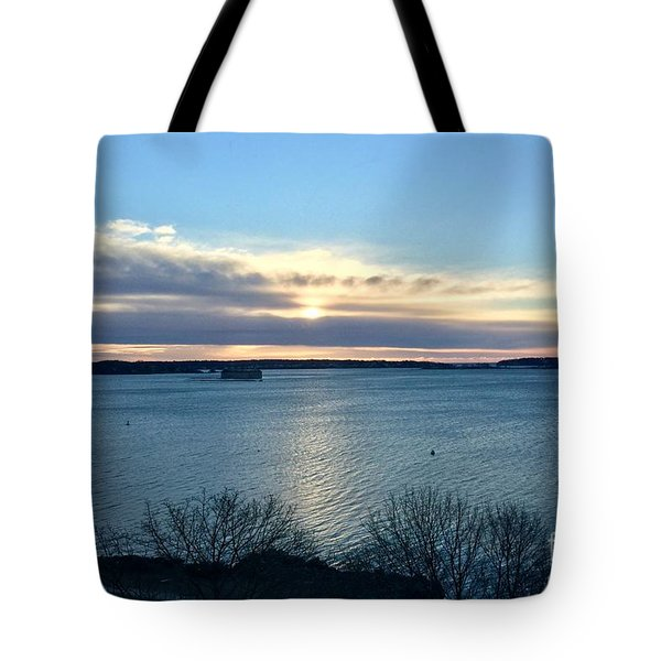 Sunday Sunrise On Casco Bay Tote Bag