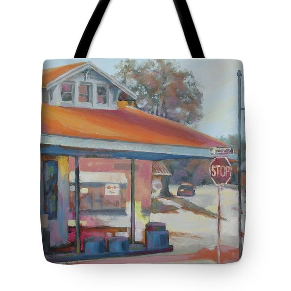 Sunday Traffic Tote Bag by Carol Strickland