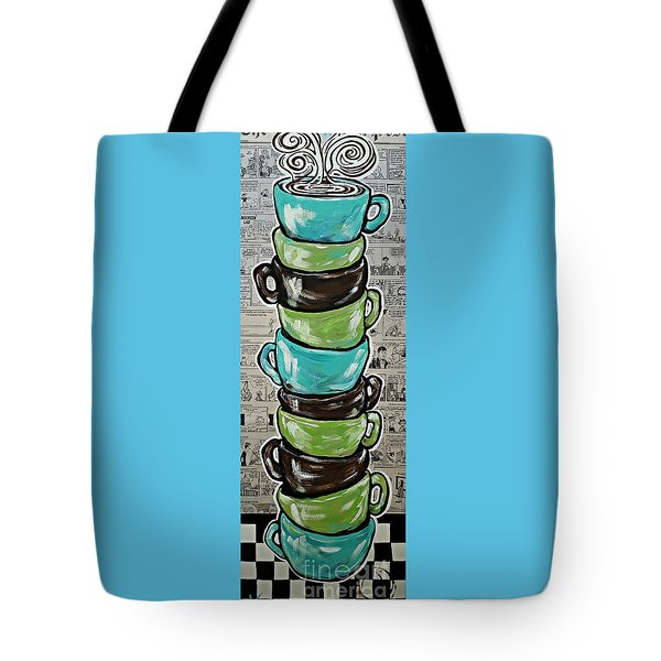Sundays Cup A Joe Dark Roast Tote Bag by Jackie Carpenter
