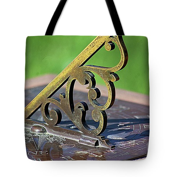 Sundial In The Garden Tote Bag