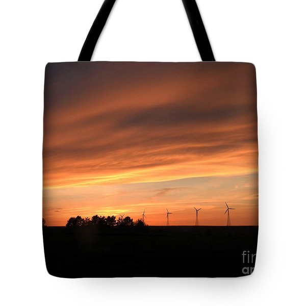 Sundown And Silhouettes Tote Bag