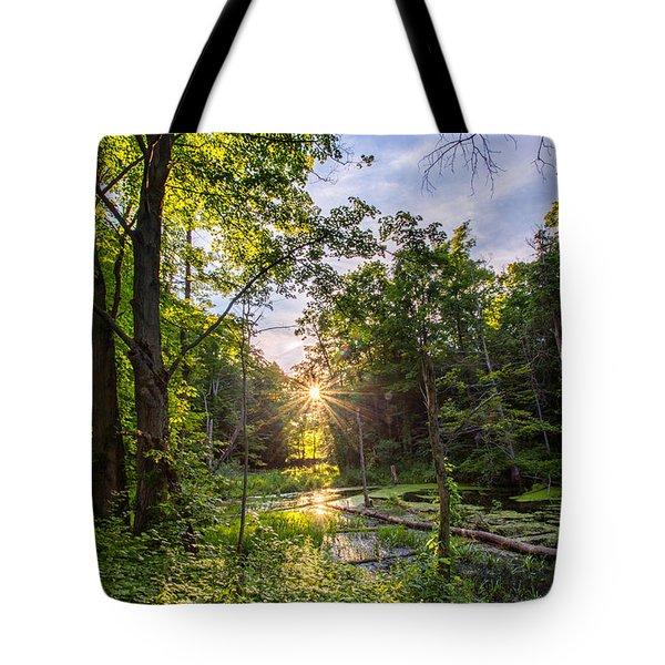 Sundown At Creekside Tote Bag
