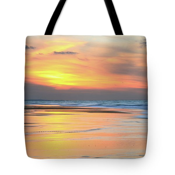 Tote Bag featuring the photograph Sundown At Race Point Beach by Roupen  Baker