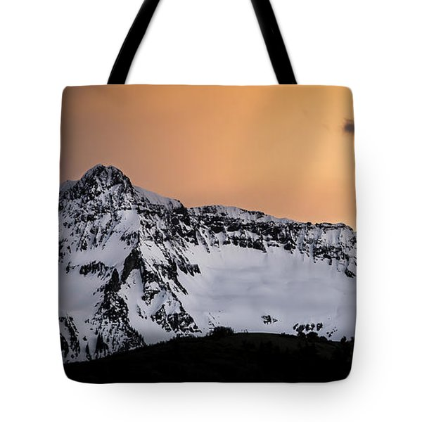 Sundown At Sneffels Range Tote Bag by The Forests Edge Photography - Diane Sandoval