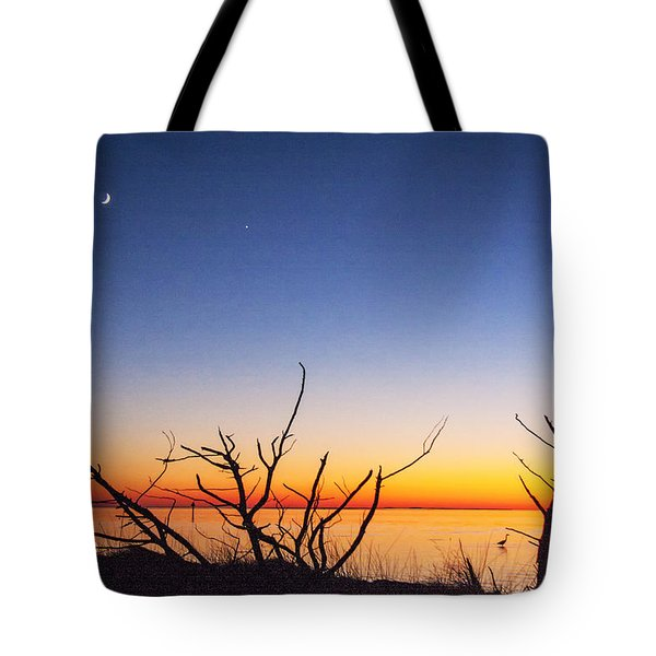 Sundown At The Sound Tote Bag