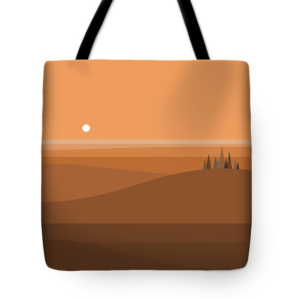 Sundown Browns Tote Bag by Val Arie