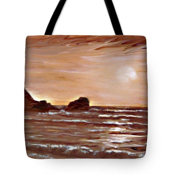 Sundown Glow Tote Bag by Desline Vitto