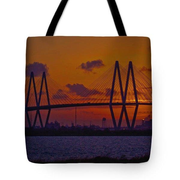 Sundown In Baytown Tote Bag