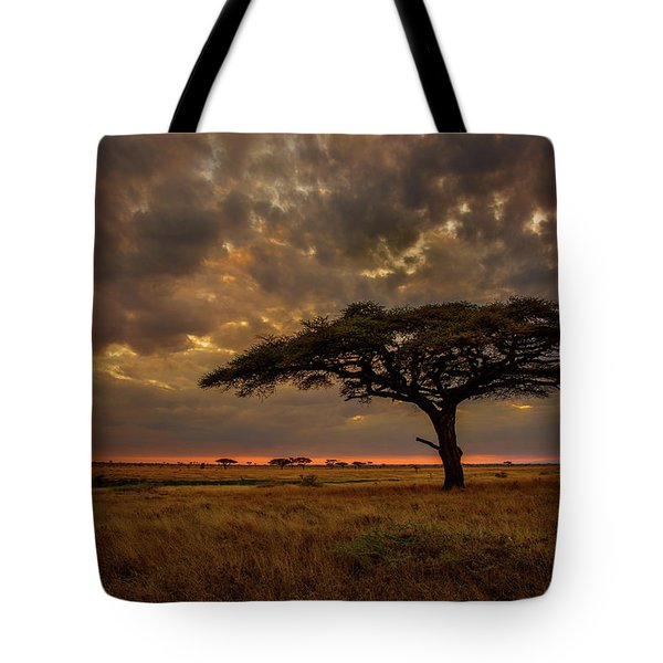 Sundown, Namiri Plains Tote Bag