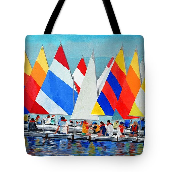 Sunfish Camp Tote Bag by Keith Wilkie