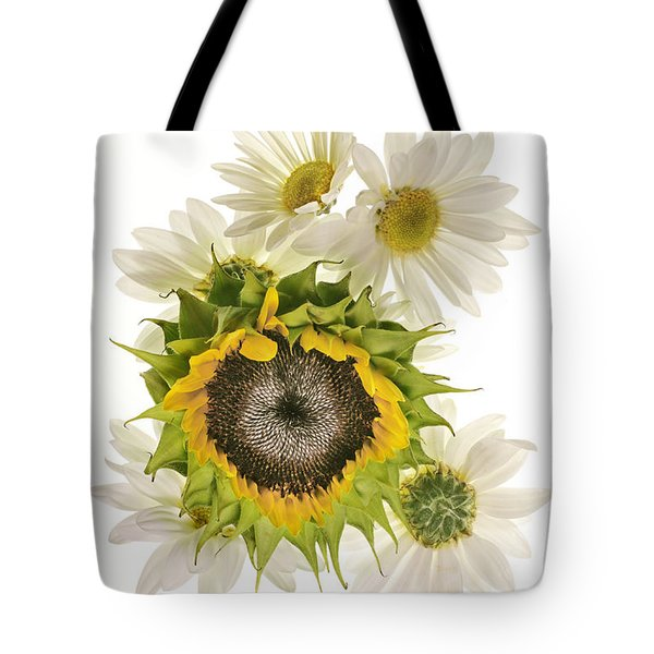 Sunflower And Daisies Tote Bag