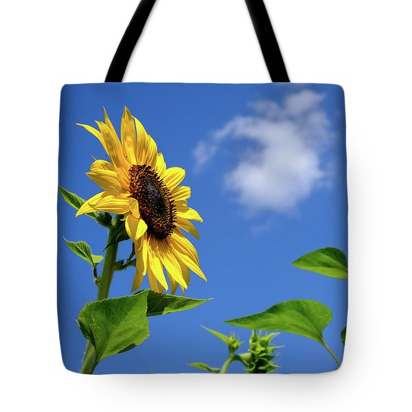 Sunflower And Friend Tote Bag