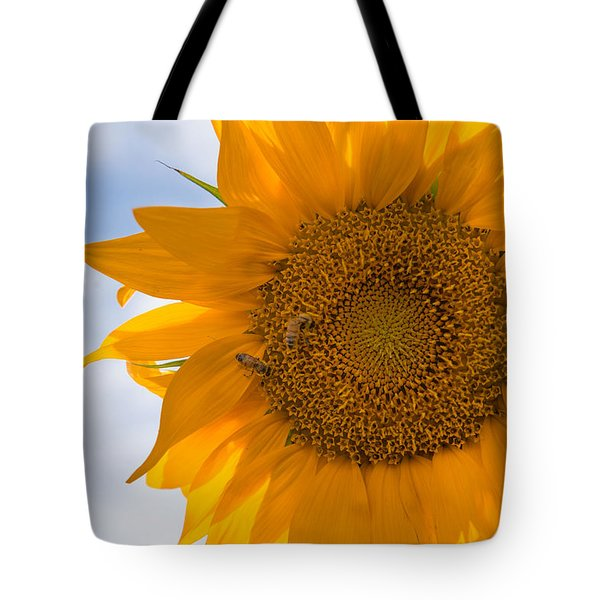 Sunflower And The Bee  Tote Bag