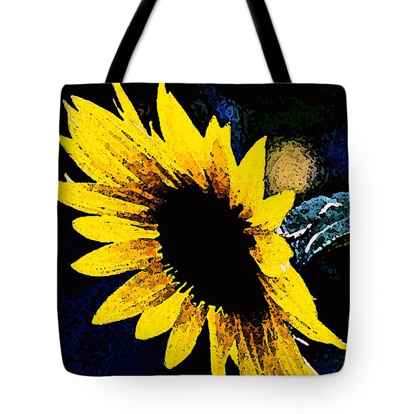 Tote Bag featuring the photograph Sunflower Art  by Juls Adams
