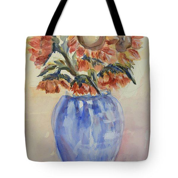 Sunflower Bouquet Tote Bag by Heather Kertzer