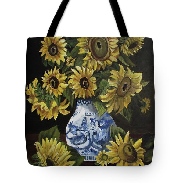 Sunflower Bouquet Tote Bag by Kim Selig