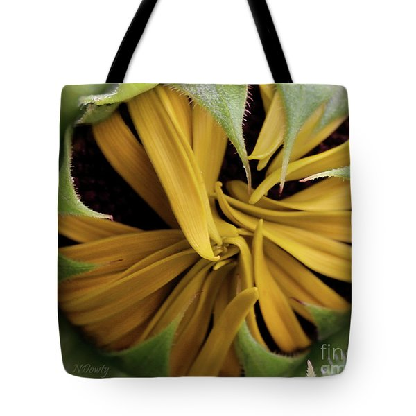 Sunflower Bud Tote Bag