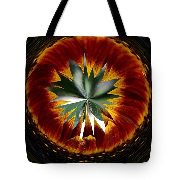 Sunflower Circle Tote Bag