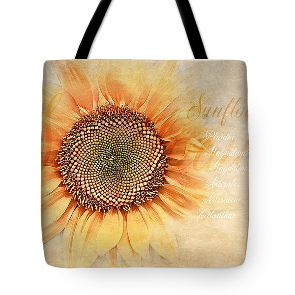 Sunflower Classification Tote Bag