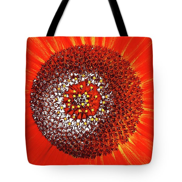Tote Bag featuring the photograph Sunflower Close by Roger Bester