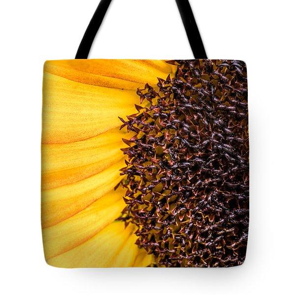 Sunflower Closeup Tote Bag by Bob Orsillo
