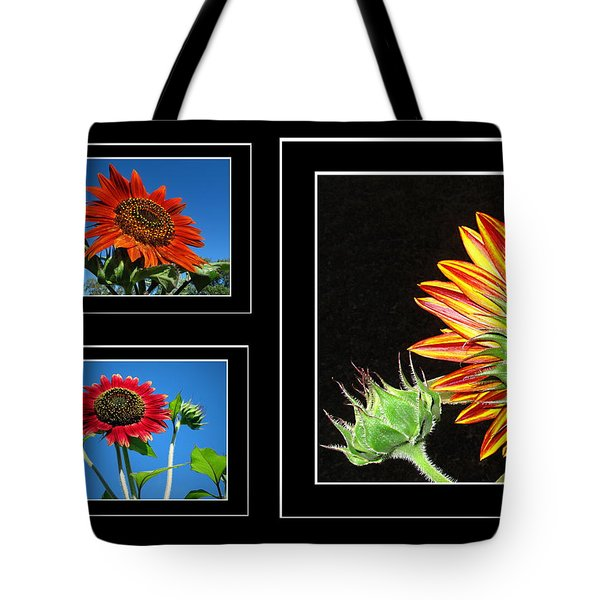 Tote Bag featuring the photograph Sunflower Collage by Joyce Dickens