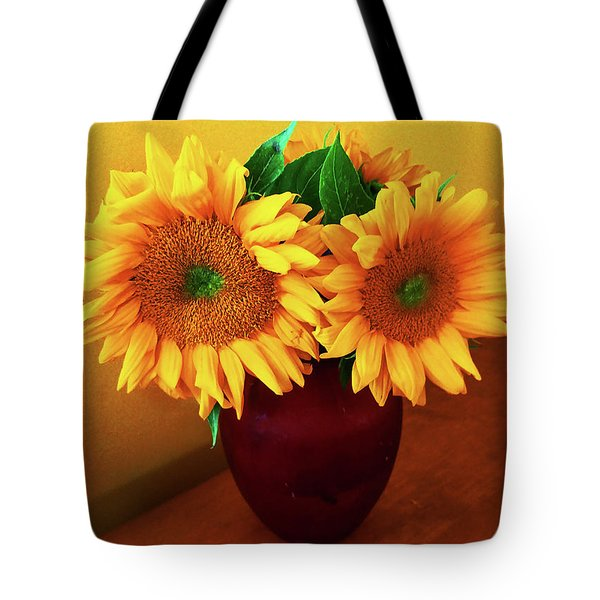 Sunflower Corner Tote Bag
