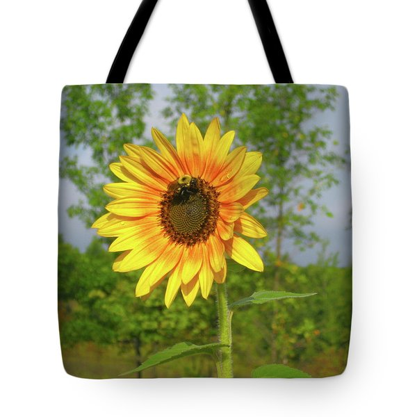 Ah, Sunflower Tote Bag by Deborah Dendler